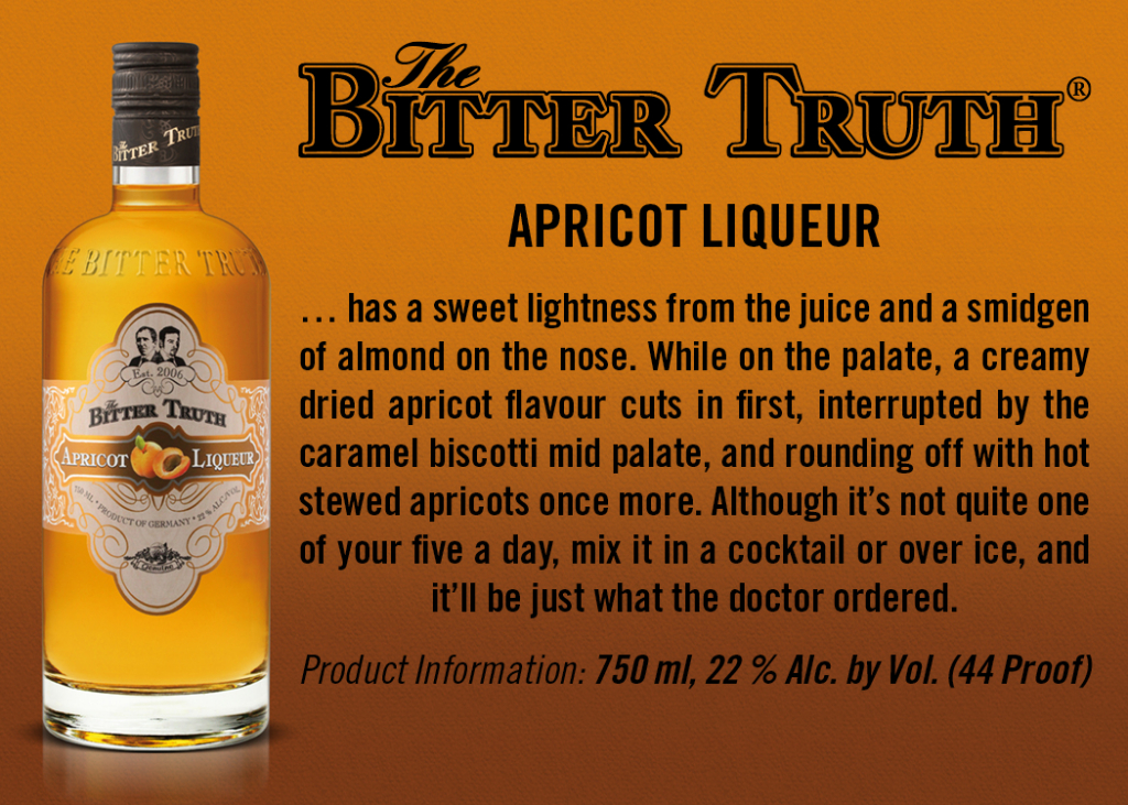 Shelf Talker The Bitter Truth Apricot Liqueur