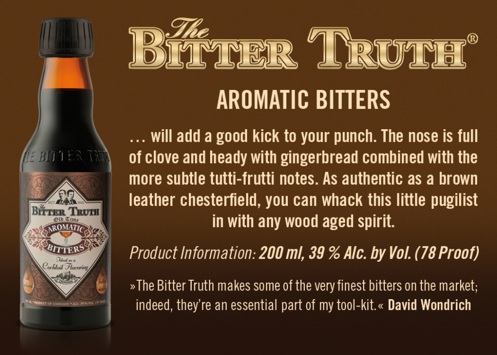 Shelf Talker The Bitter Truth Aromatic Bitters
