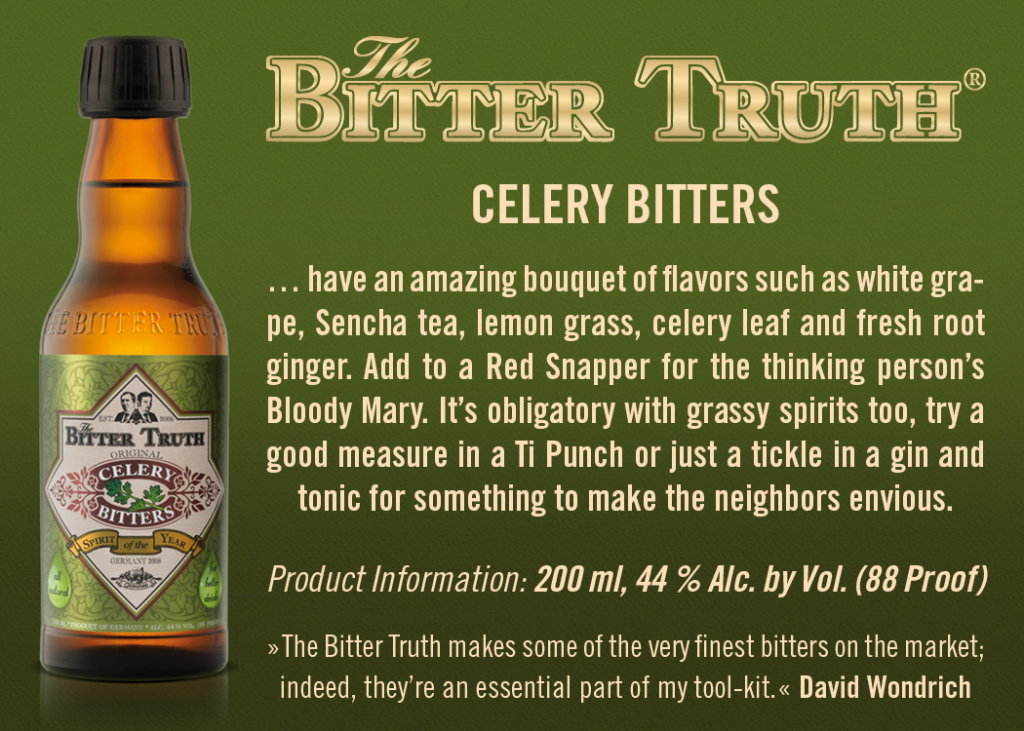 Shelf Talker The Bitter Truth Celery Bitters