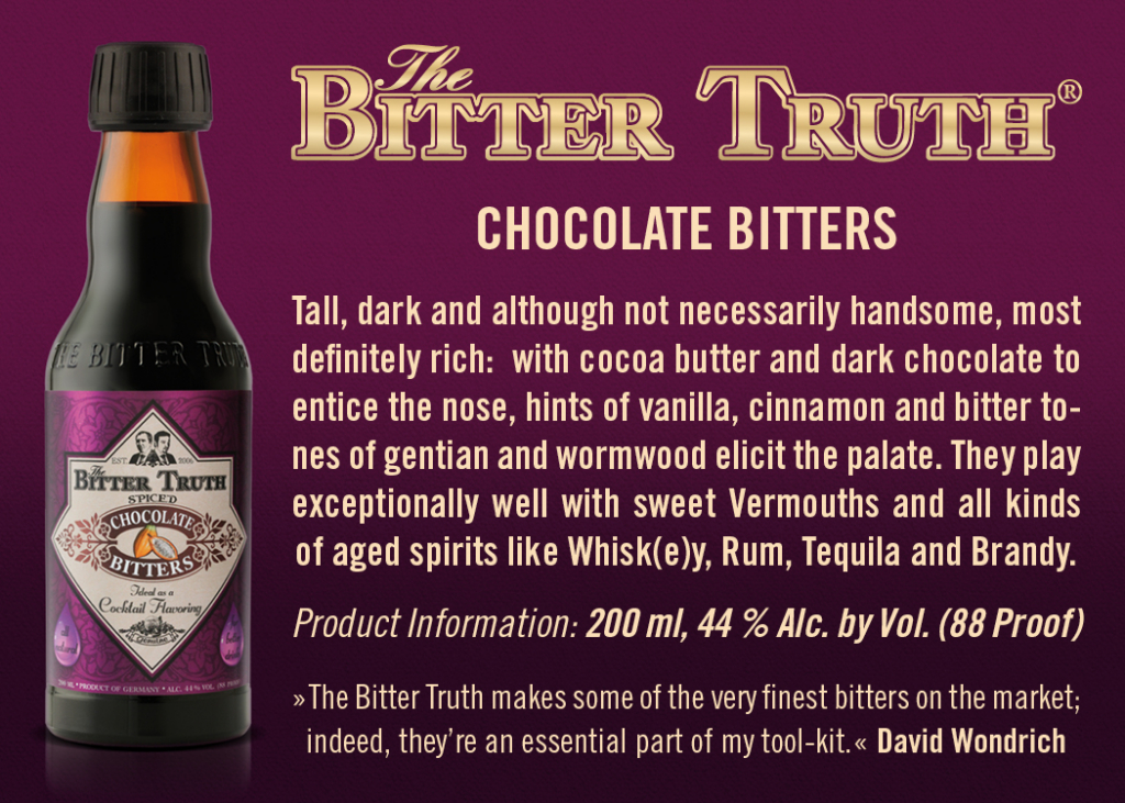Shelf Talker The Bitter Truth Chocolate Bitters