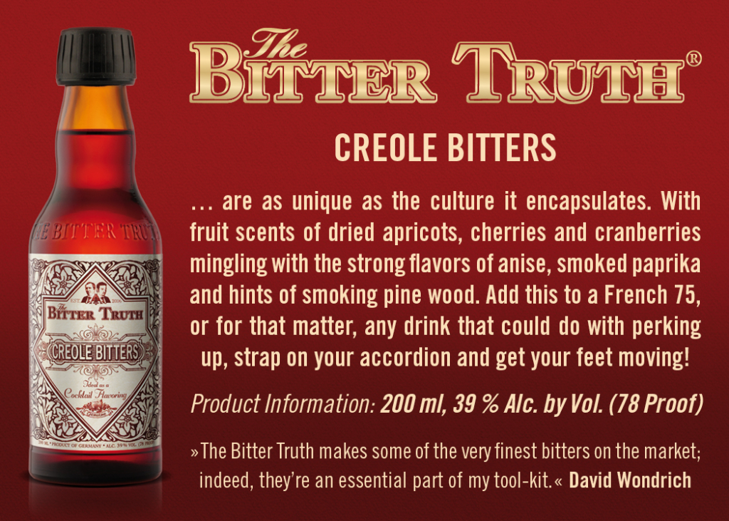 Shelf Talker The Bitter Truth Creole Bitters