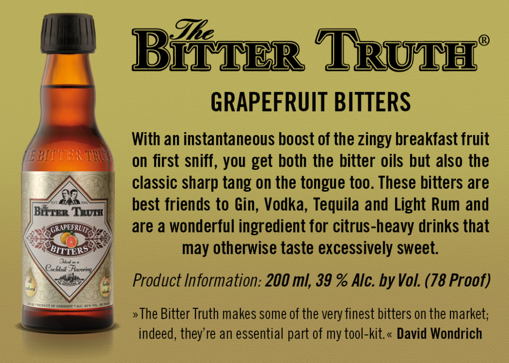 Shelf Talker The Bitter Truth Grapefruit Bitters
