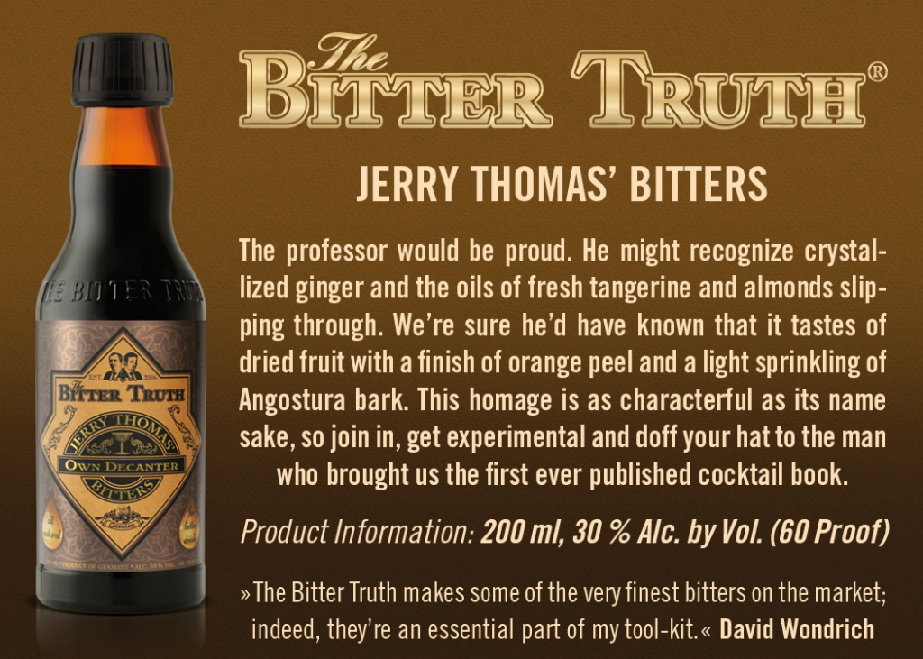 Shelf Talker The Bitter Truth Jerry Thomas Bitters