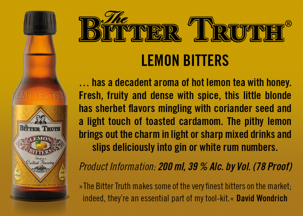 Shelf Talker The Bitter Truth Lemon Bitters