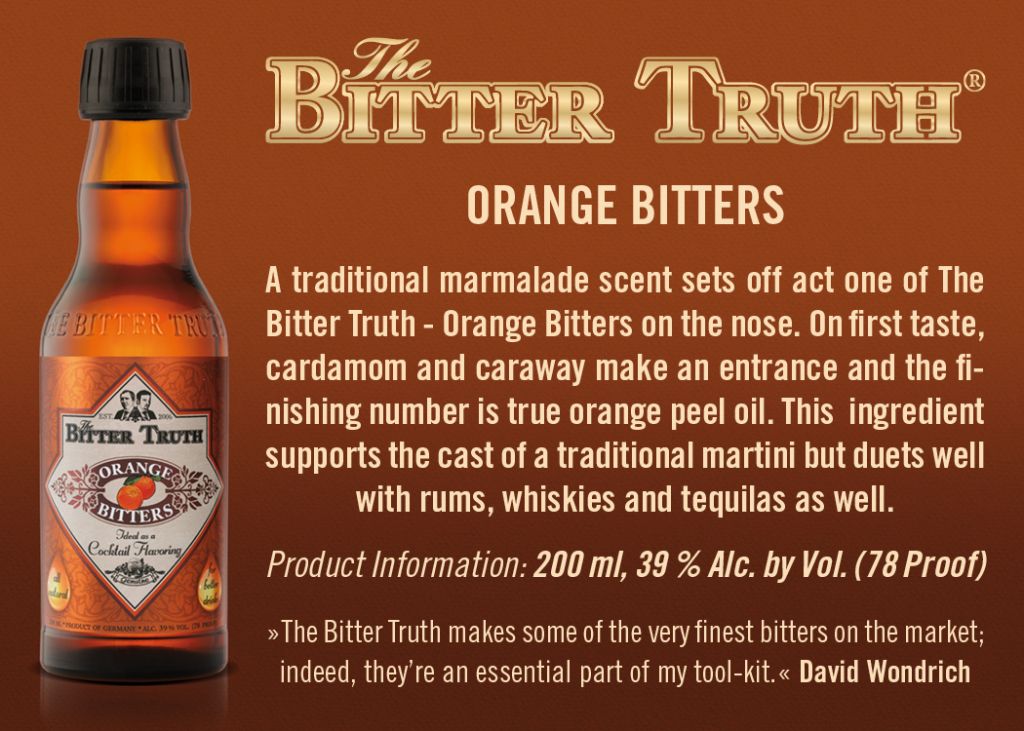 Shelf Talker The Bitter Truth Orange Bitters