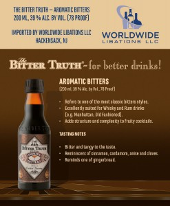 Shelf Talker The Bitter Truth Aromatic Bitters USA