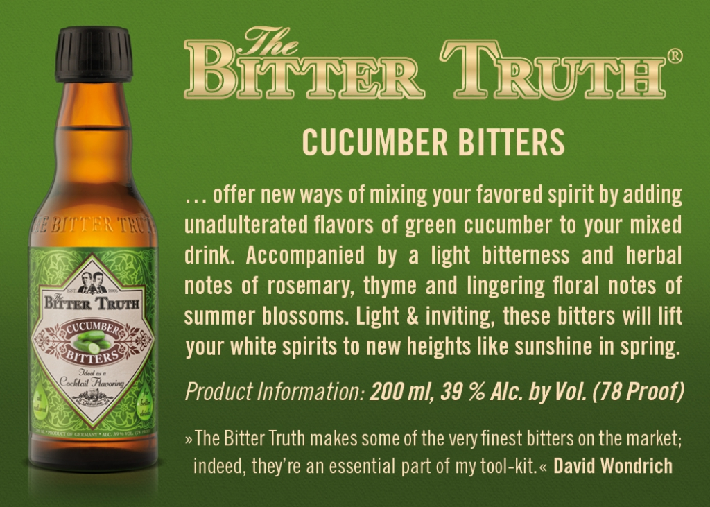 Shelf Talker The Bitter Truth Cucumber Bitters