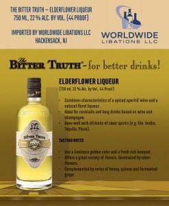 Shelf Talker The Bitter Truth Elderflower Liqueur USA