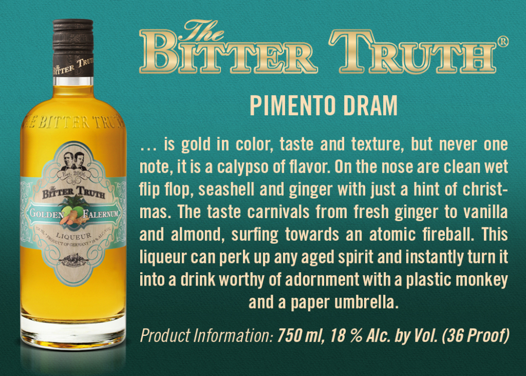 Shelf Talker The Bitter Truth Golden Falernum