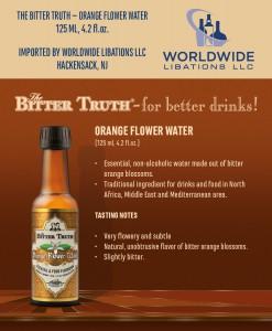 Shelf Talker The Bitter Truth Orange Flower Water
