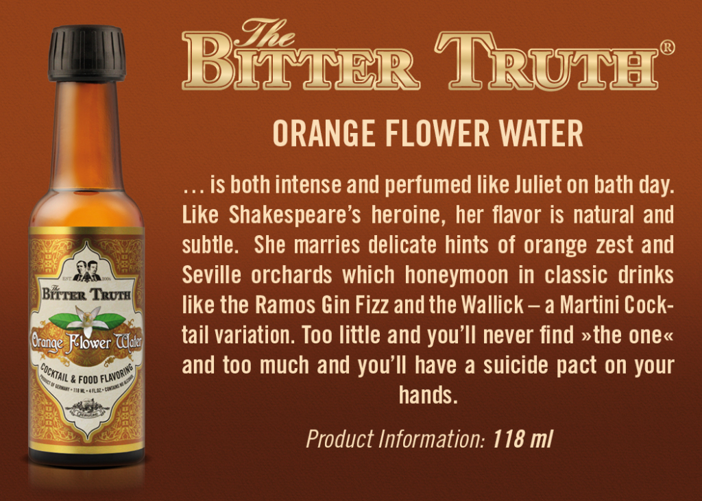 Shelf Talker The Bitter Truth Orange Flower Water