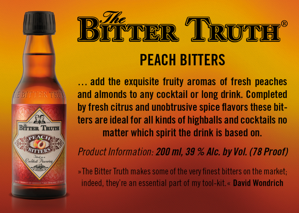 Shelf Talker The Bitter Truth Peach Bitters