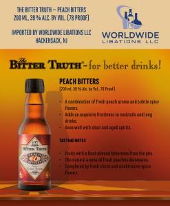 Shelf Talker The Bitter Truth Peach Bitters USA