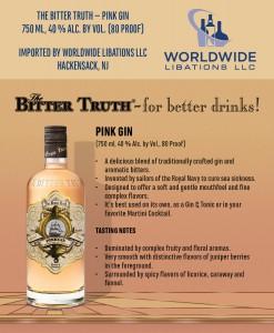 Shelf Talker The Bitter Truth Pink Gin USA