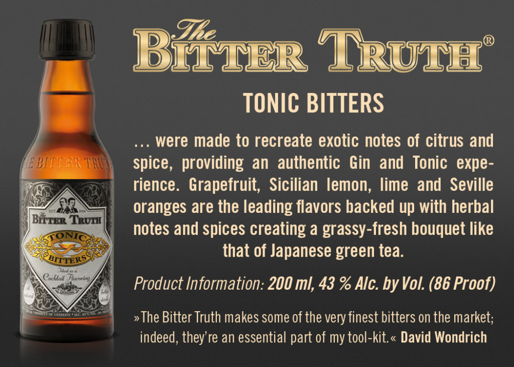 Shelf Talker The Bitter Truth Tonic Bitters