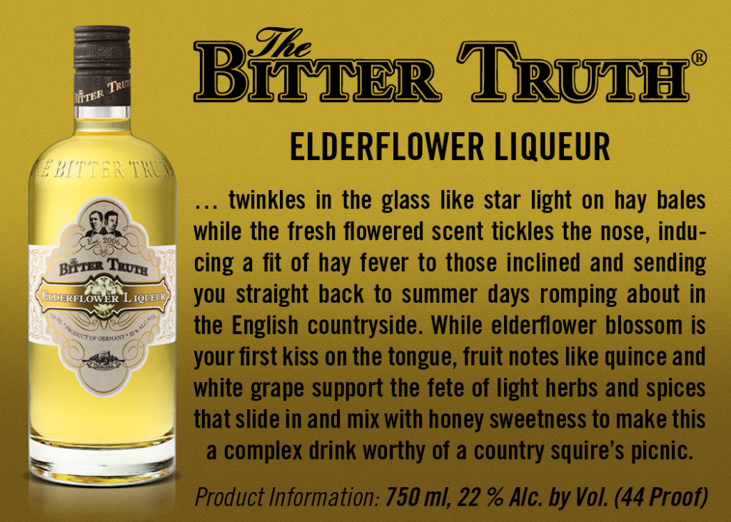 Shelf Talker The Bitter Truth Elderflower Liqueur