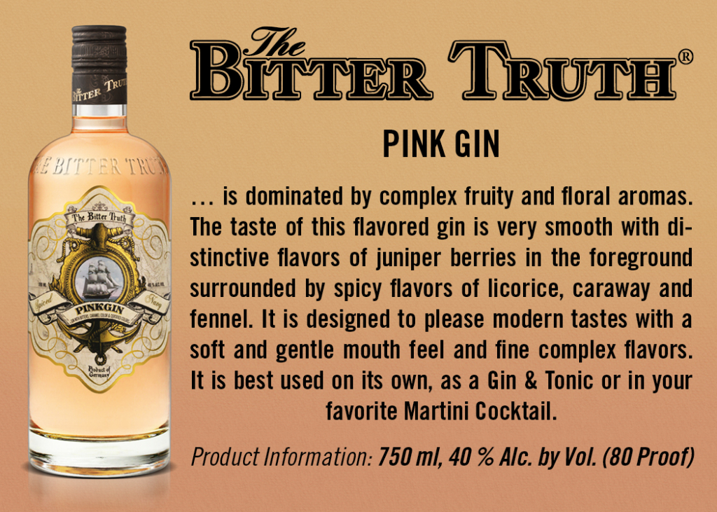 Shelf Talker The Bitter Truth Pink Gin