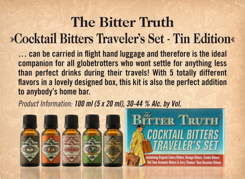 Shelf Talker The Bitter Truth Bitters Travel Set
