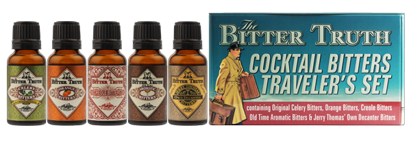 The Bitter Truth Cocktail Bitters Travel Set