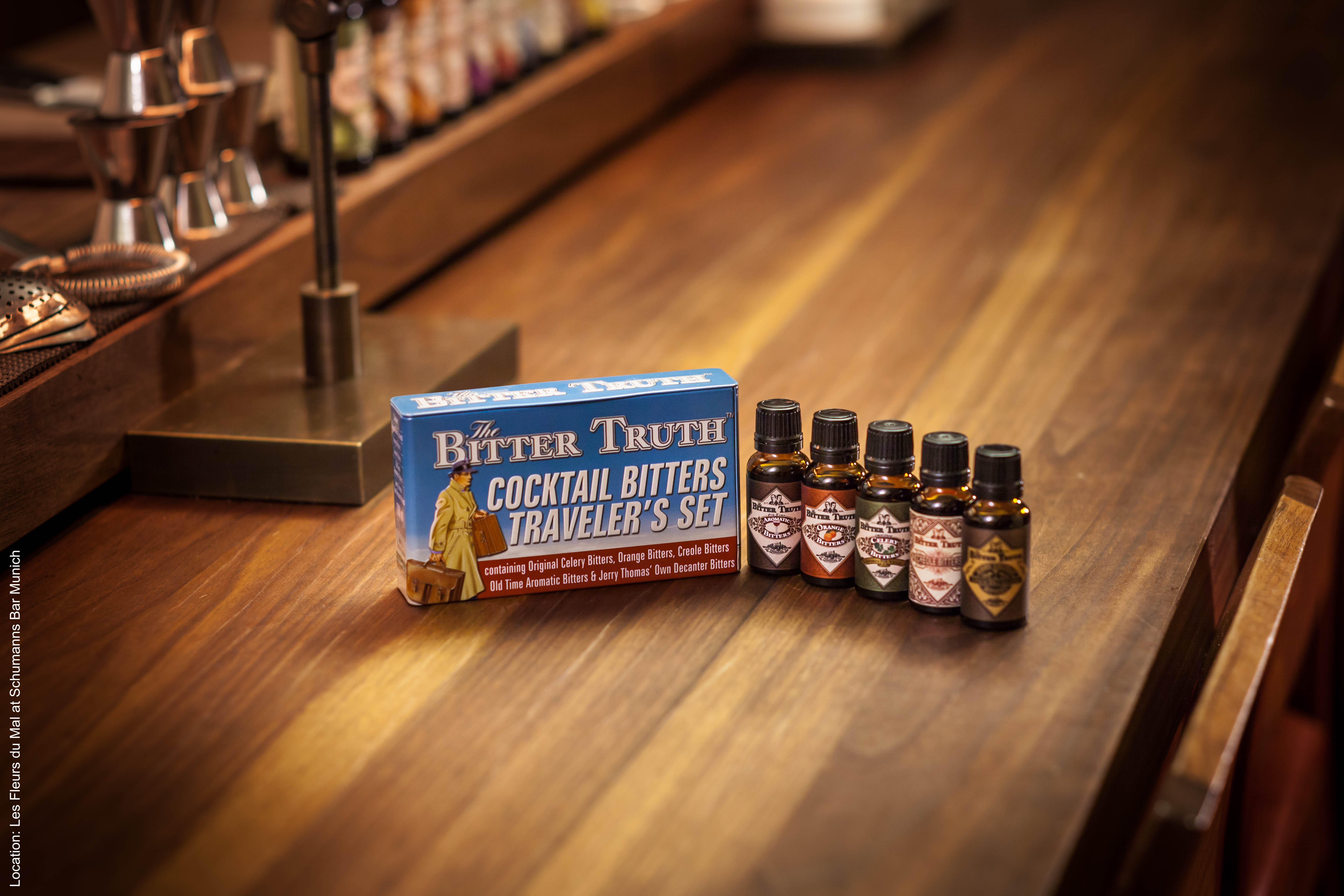 The Bitter Truth Cocktail Bitters Traveler`s Set with Bottles