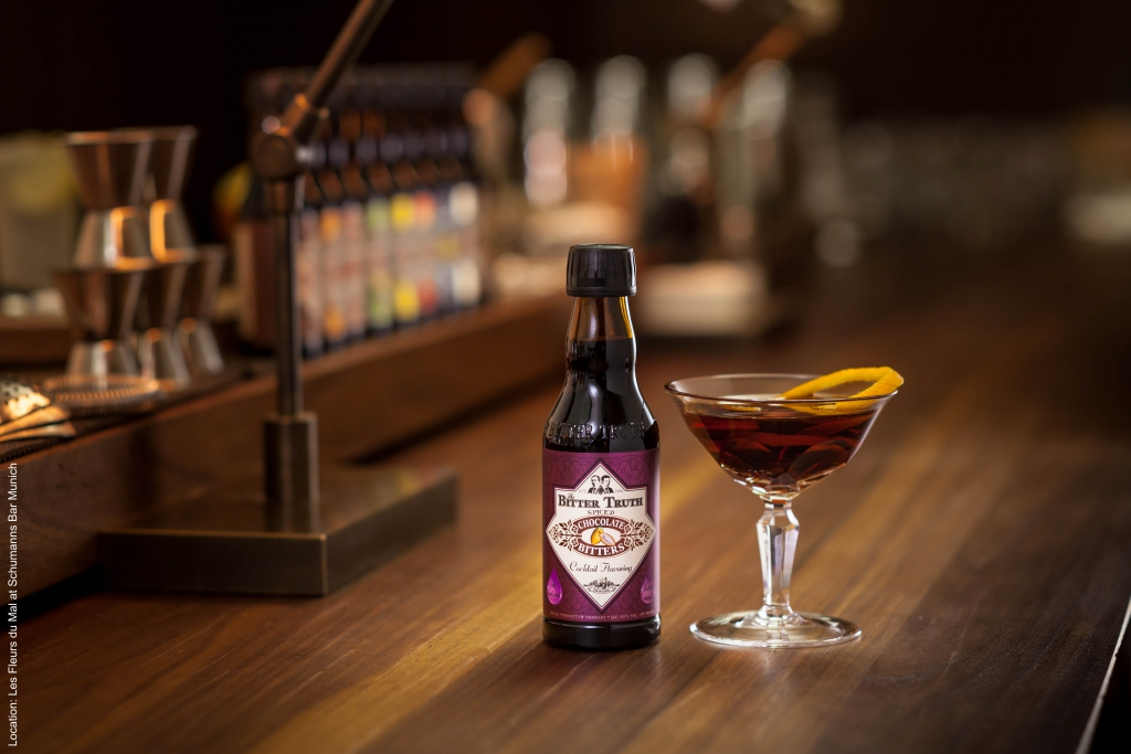 The Bitter Truth Chocolate Bitters with Martinez Cocktail