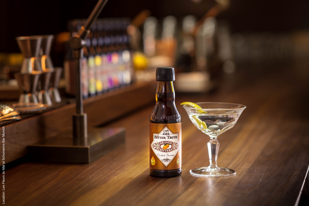 The Bitter Truth Orange Bitters with Dry Martini Cocktail