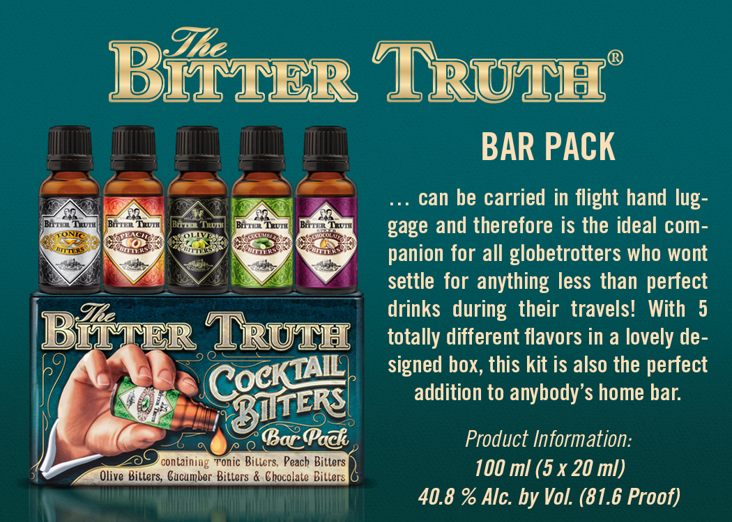 Shelf Talker The Bitter Truth Bar Pack
