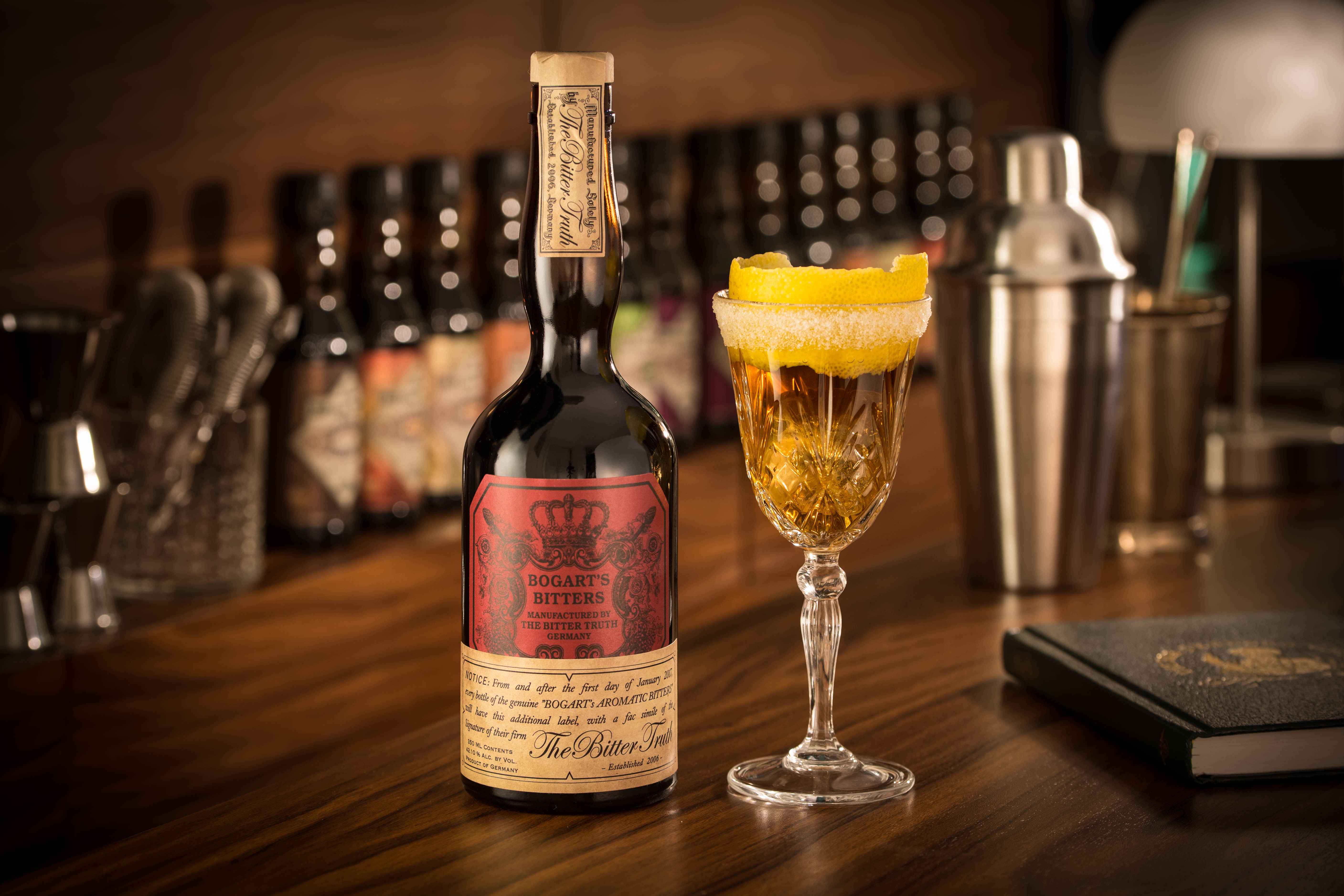 The Bitter Truth Bogarts Bitters with Brandy Crusta