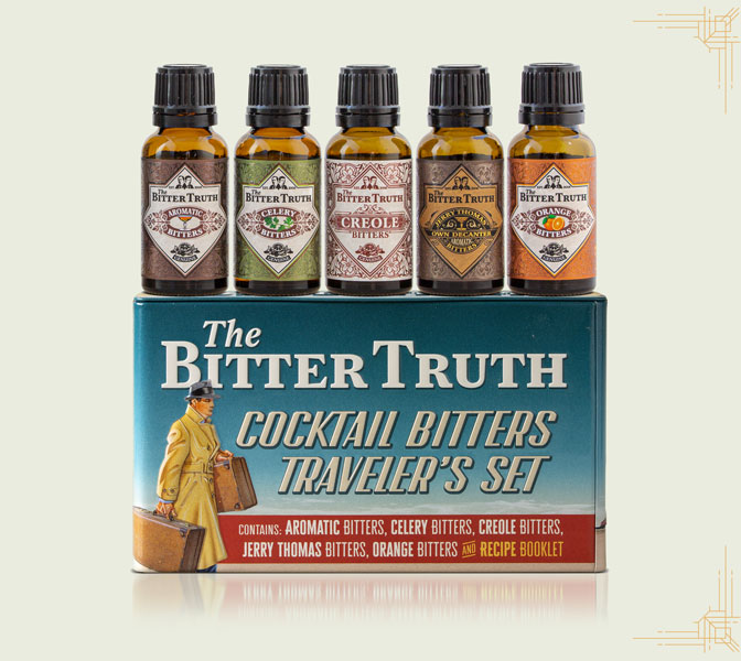 The Bitter Truth Traveler`s Set tin and bottles