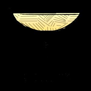 Coupette Glass Illustration yellow