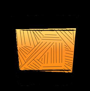 Rock Glass Illustration orange