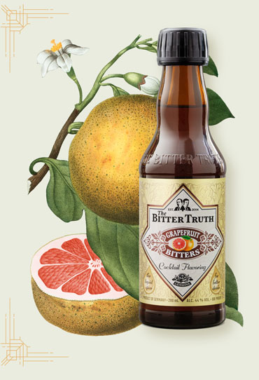 The Bitter Truth Grapefruit Bitters Illustration with fruit