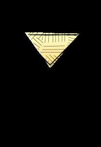 Martini Glass Illustration yellow