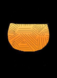Snifter Glass Illustration orange