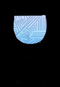 Wine Glass Illustration blue