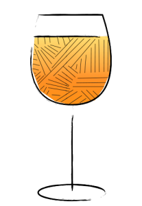 Wine Glass Illustration orange