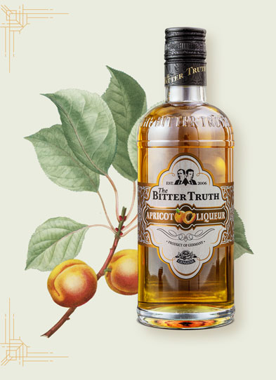 The Bitter Truth Apricot Liqueur Illustration with fruit