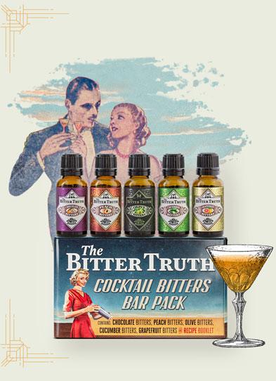 Cocktail Bitters Bar Pack Illustration