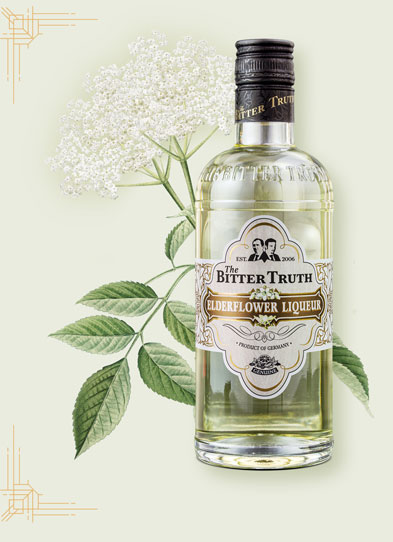 The Bitter Truth Elderflower Liqueur Illustration with spices
