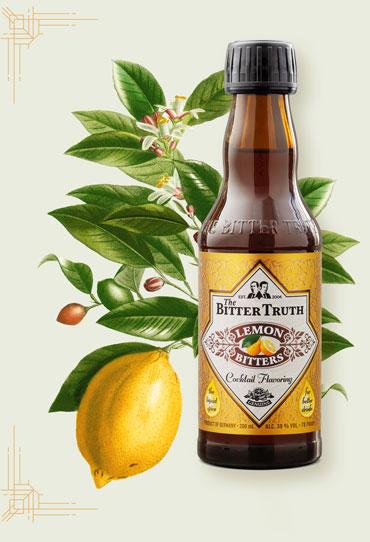 The Bitter Truth Lemon Bitters Illustration with lemon branch