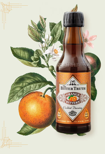 The Bitter Truth Orange Bitters Illustration with fruit