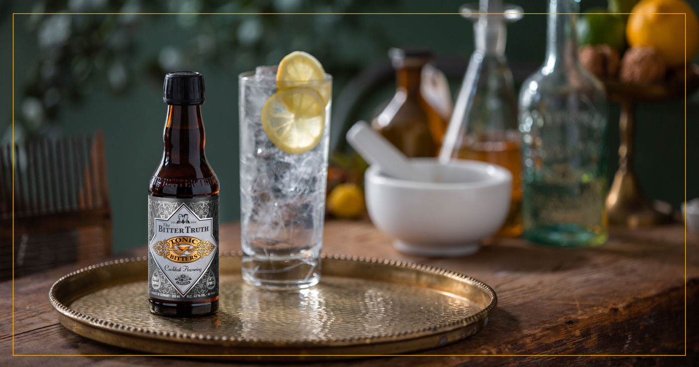 The Bitter Truth Tonic Bitters with Gin and Tonic