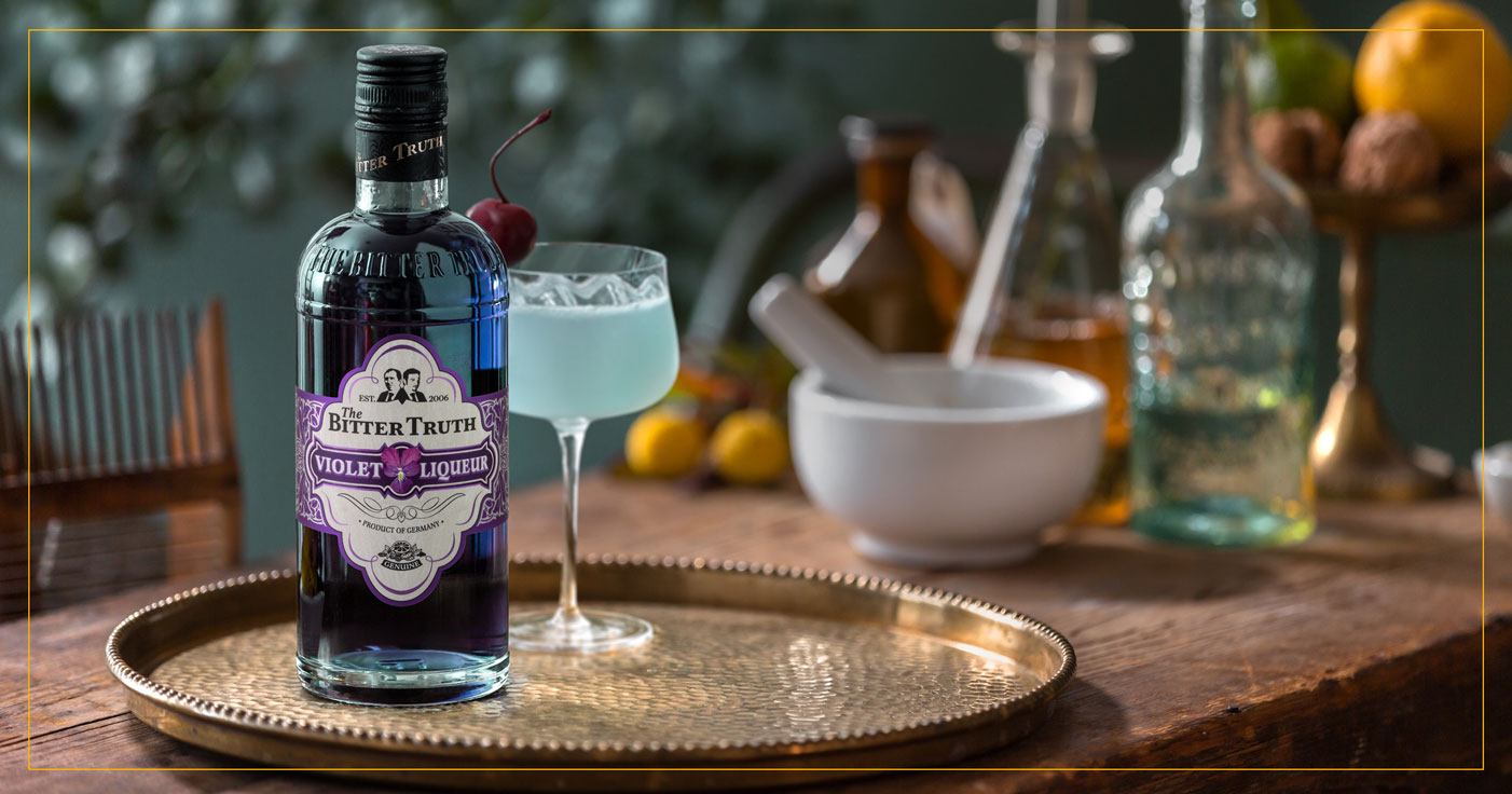 The Bitter Truth Violet Liqueur with Aviation Cocktail